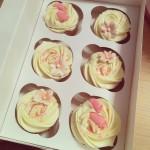 Cupcakes rosa pynt