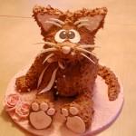 3D-figurkake katt