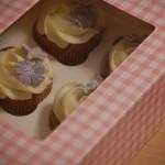 Cupcakes med lilla ynt